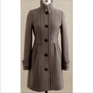 Jcrew colletta double cloth coat taupe